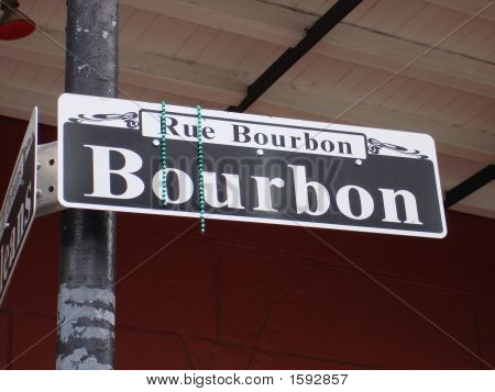 New Orleans Bourbon Street Sign