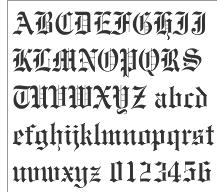 Old English Alphabet Gothic Font