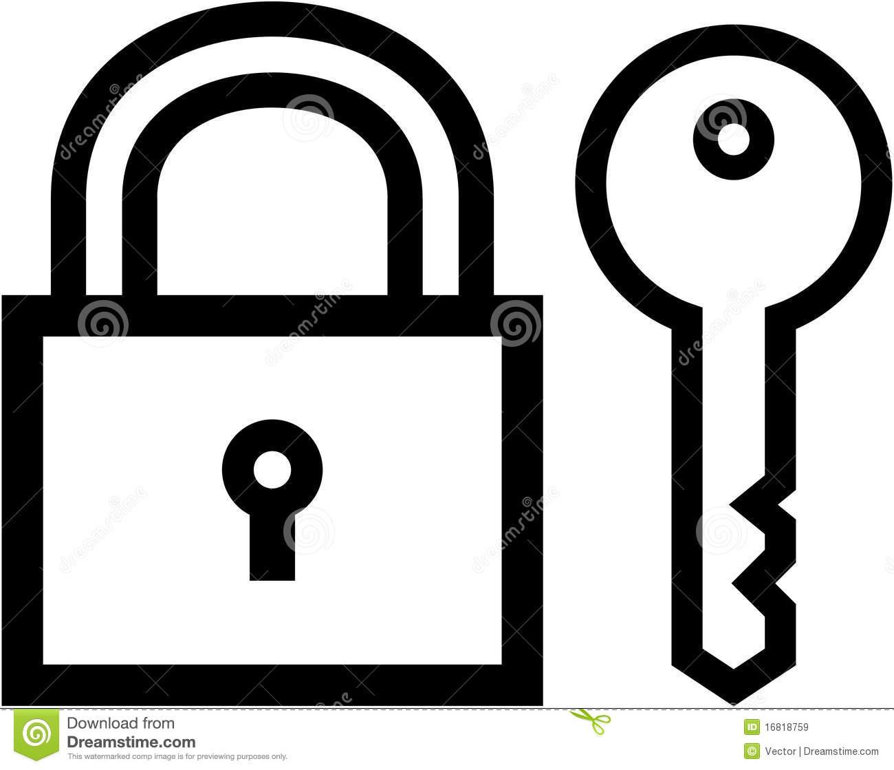 Padlock and Key Icon