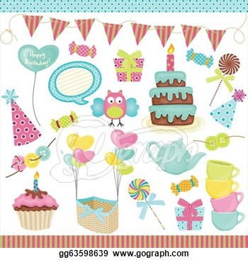 Party Owls Clip Art