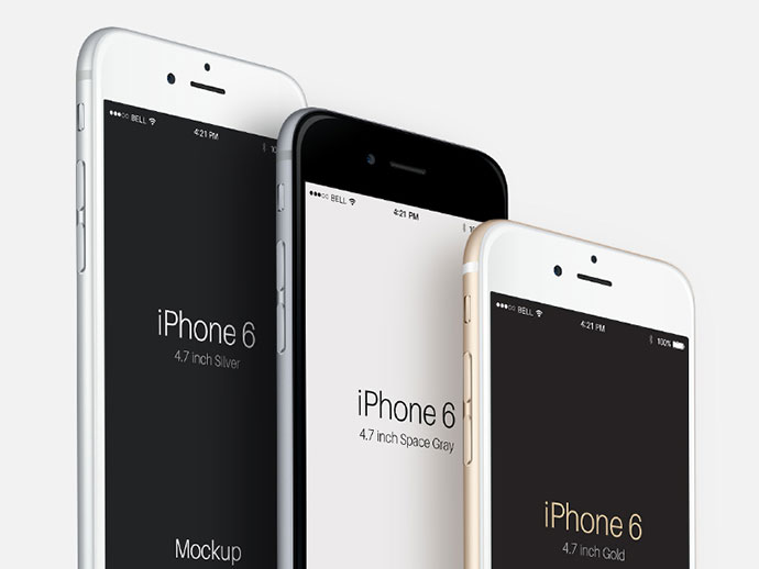 Perspective iPhone 6 Mockup PSD