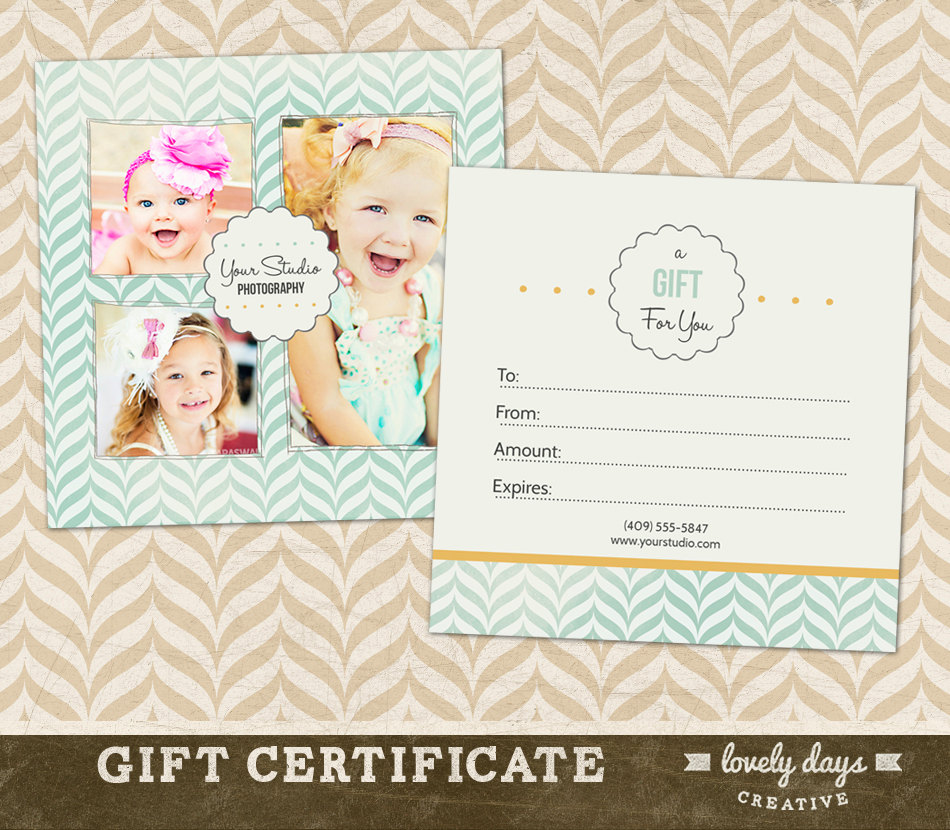 7 Photography Gift Certificate Template PSD Images
