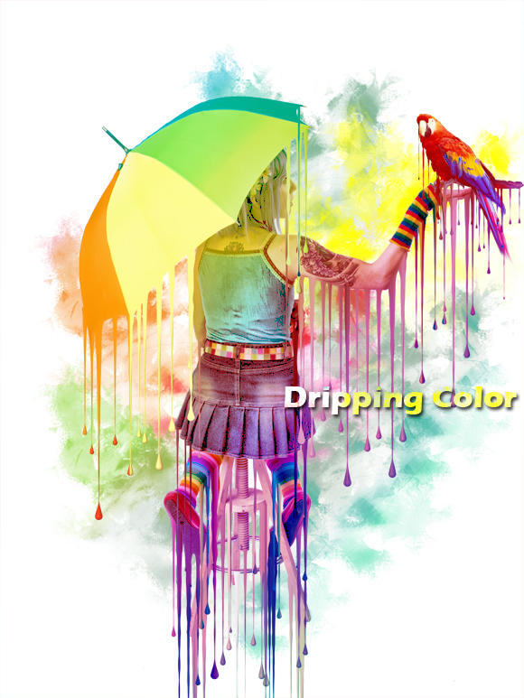 15 Photoshop Dripping Colors Images