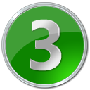 15 Green Circle Number Icon Images