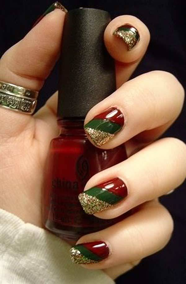 11 Christmas Nail Designs 2014 Images