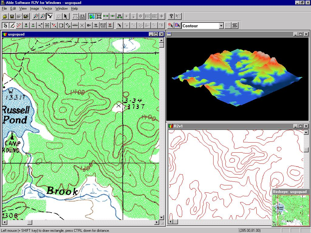 Raster Data GIS Map