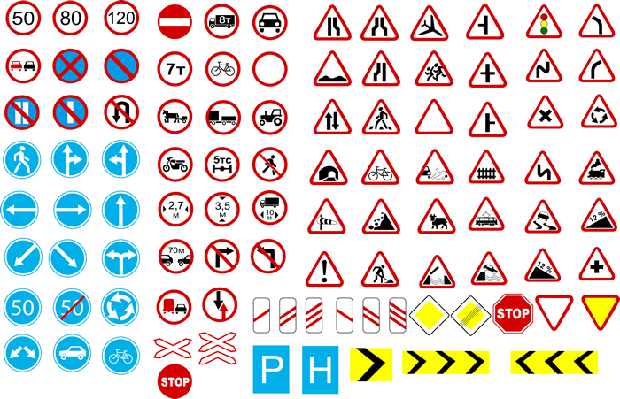 Road Sign Vector Free Download