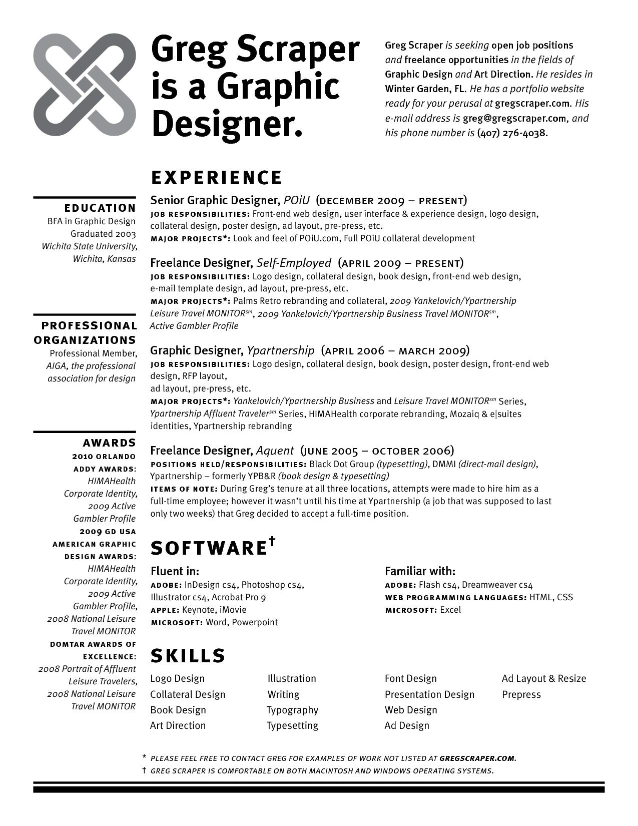 17 Open Graphic Resume Templates Images Creative Graphic Design