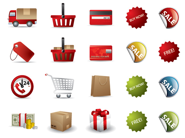 5 Online Shopping Icon Vector Images
