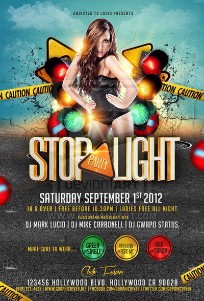14 Stop Light Party Flyer PSD Images