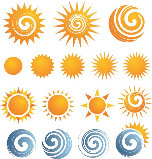6 Design Elements Icons Sun Images