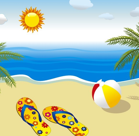 10 Vector Summer Beach Images
