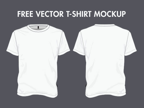 14 T-Shirt Mockup Vector Templates Images
