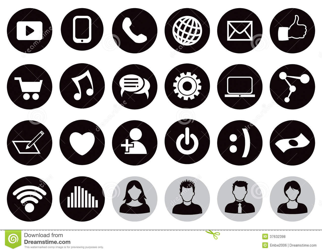 12 Technology Icon Set Images