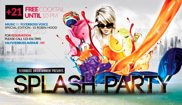 This Summer Time Flyer PSD Flyer Template