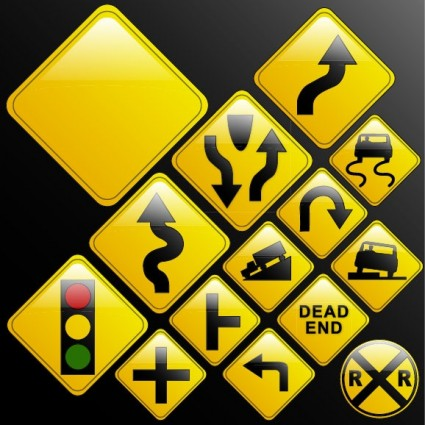 Traffic Sign Arrow Vector