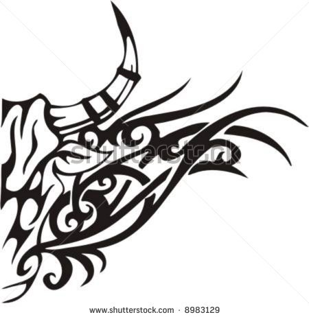 6 Tribal Flames Vector Clip Art Images