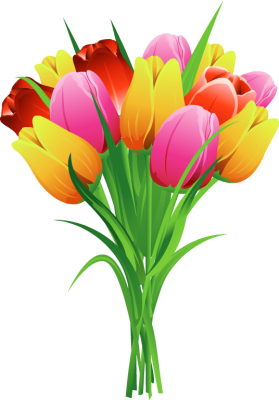 Tulip Bouquet Clip Art Free
