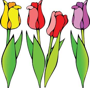 Tulips Flowers Clip Art