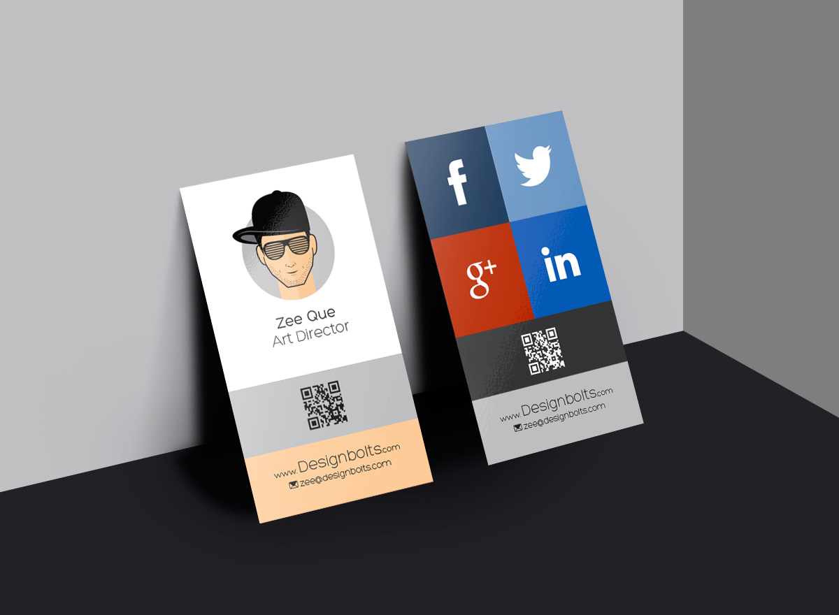 Vertical Business Card Designs