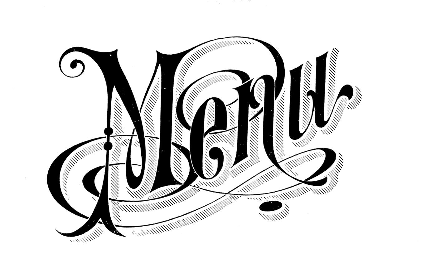 Vintage Menu Clip Art