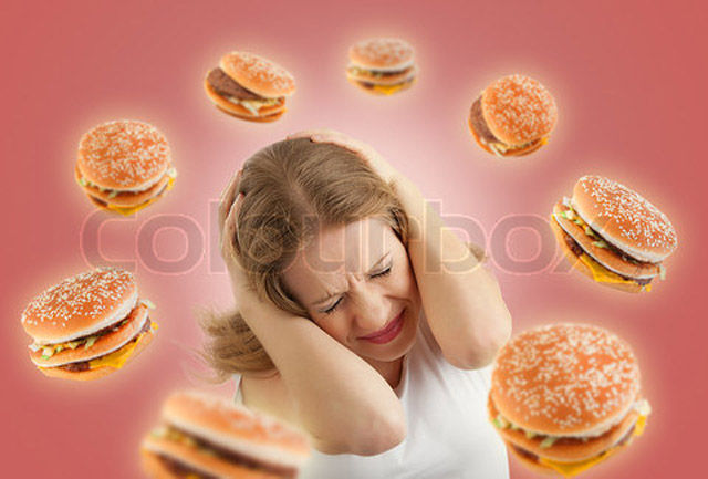 Weird Hamburger Stock-Photo