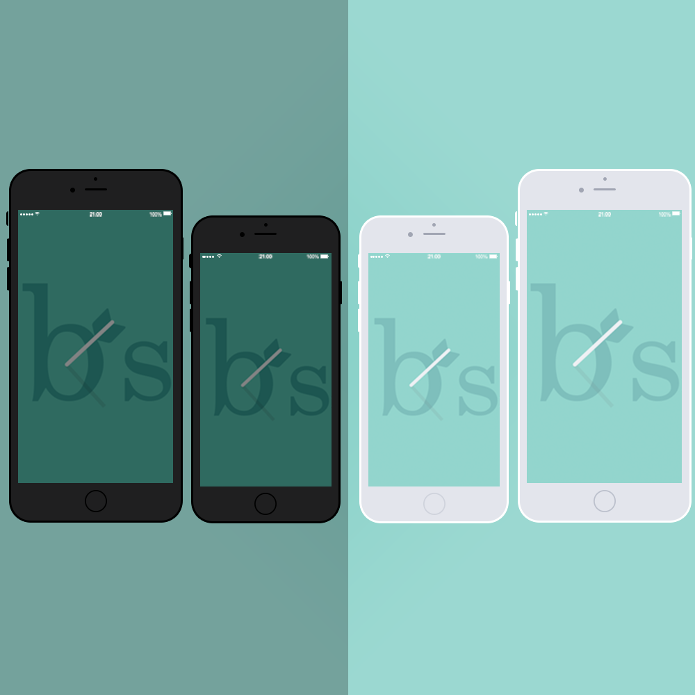 White iPhone 6 Mockup PNG