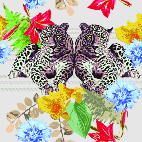 Wild Animal Vector Patterns