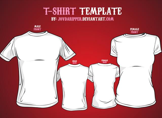 Women T-Shirt Template Vector