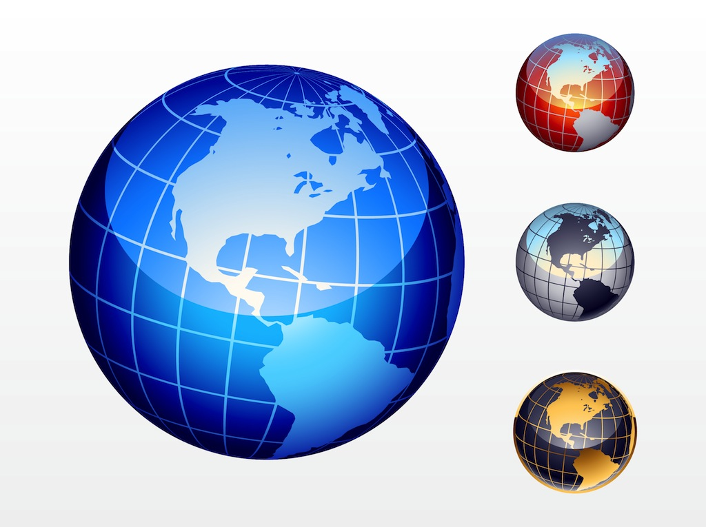 World Icon Vector Free