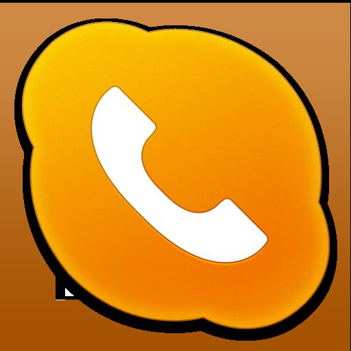 12 Orange Phone Icon Images