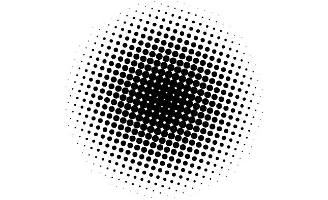 11 Vector Circle Halftone Pattern Images Free Vector Dot