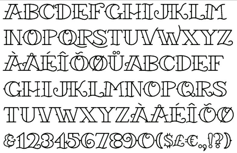 13 Traditional Font Styles Images