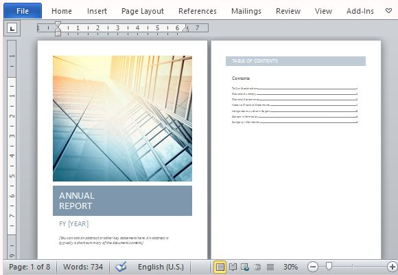 Annual Report Cover Design Template