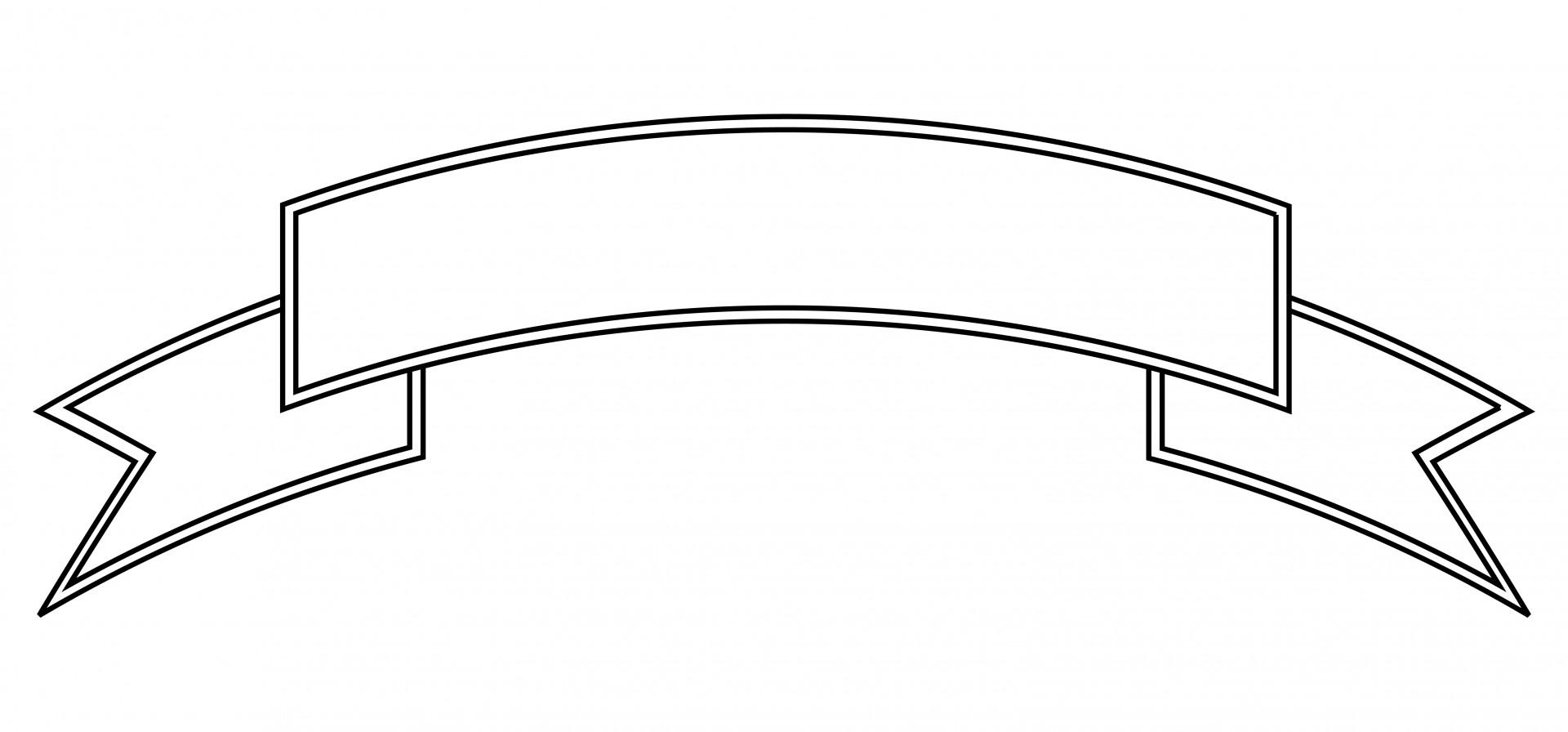 Banner Outline Clip Art