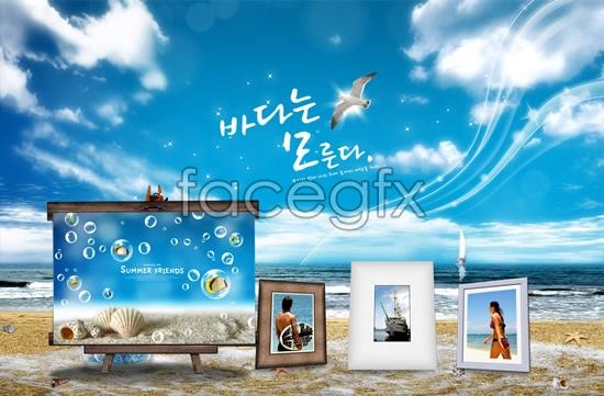 Beach Photo Album Frames