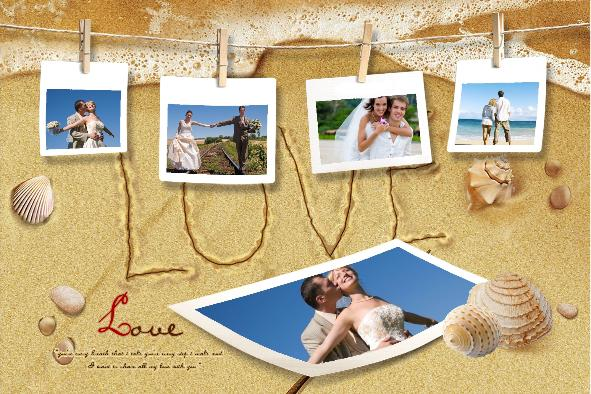 Beach Template Collage