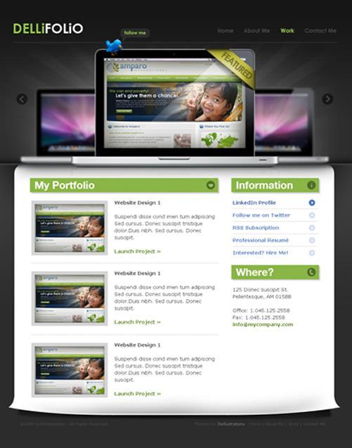Beautiful Web Page Template