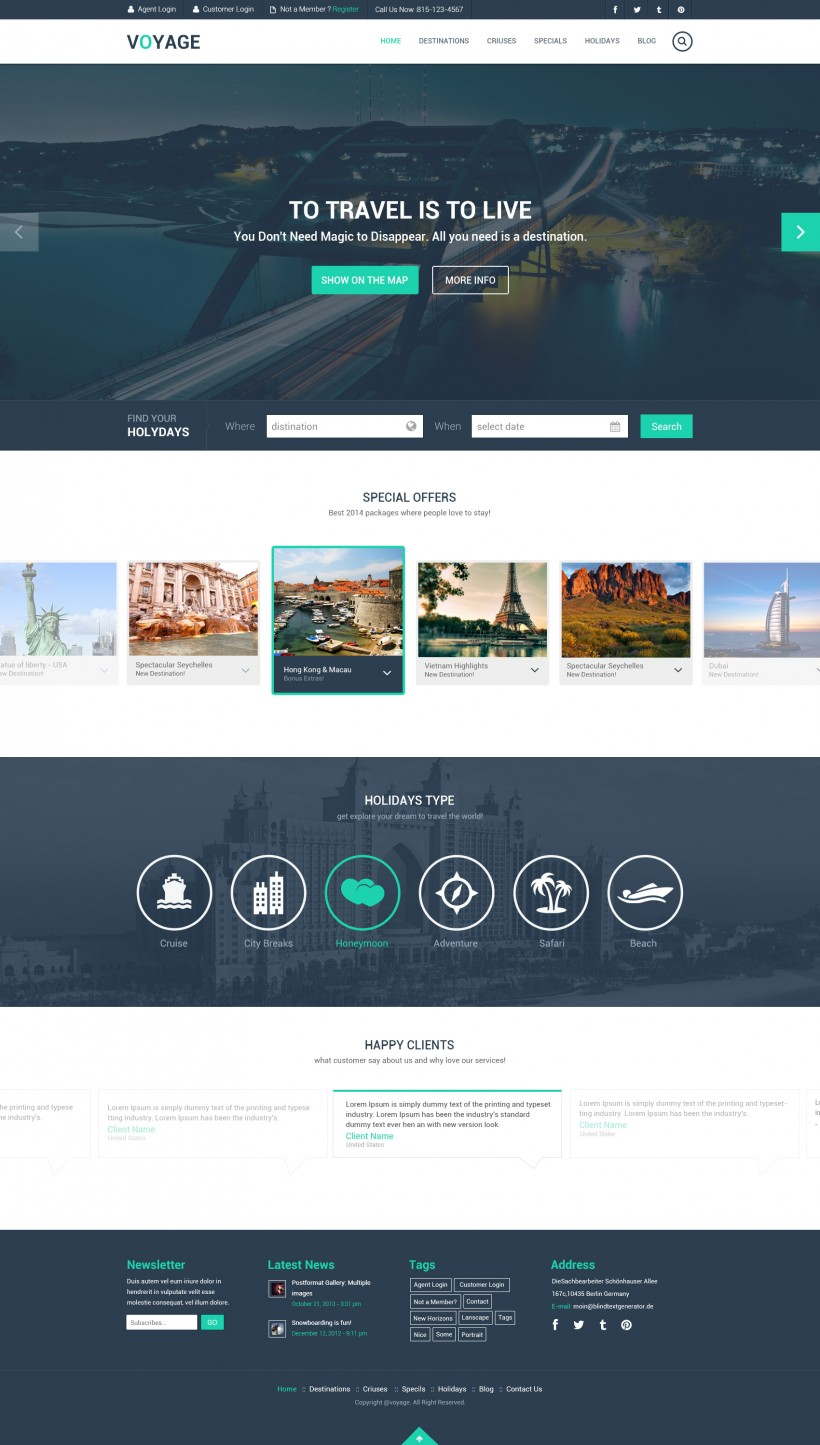 Best Free Website Templates PSD