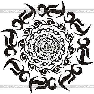 8 Round Tribal Vector Art Images