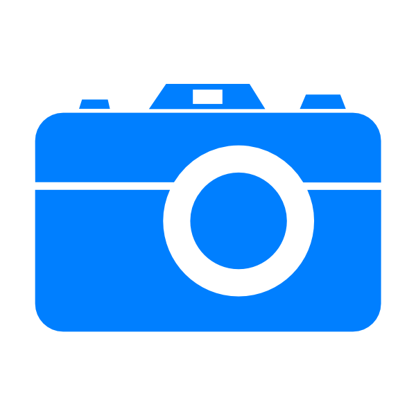 11 Blue Camera Icon Images