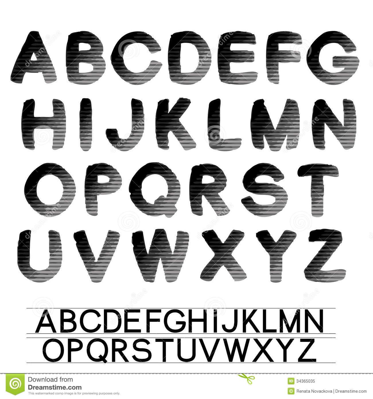 Black Letter Alphabet Font