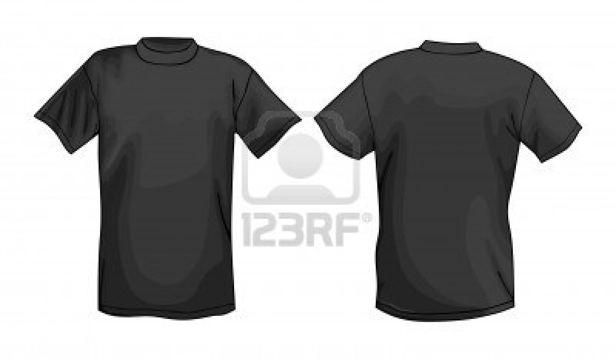 The gallery for black t shirt template front and back psd for Front pocket t shirt design