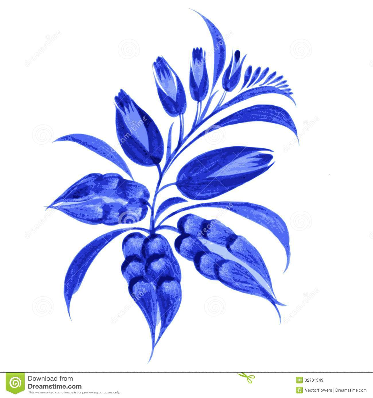 14 Blue Flower Graphics Images