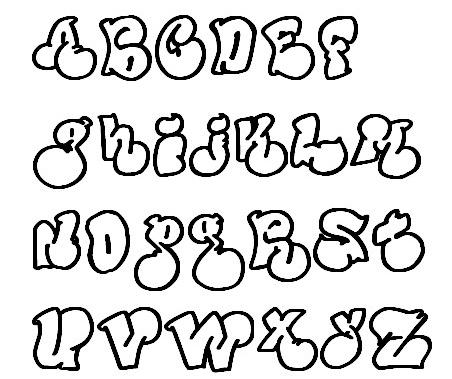 Bubble Graffiti Font Styles