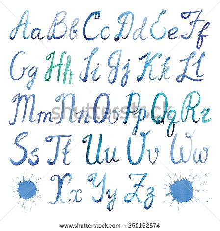 5 Watercolor Script Font Images Cursive Calligraphy