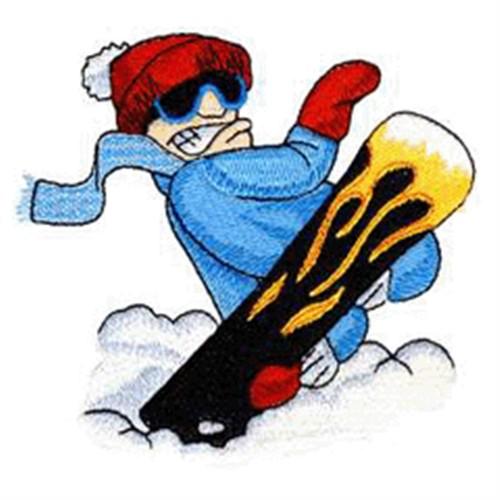 Cartoon Snowboarder
