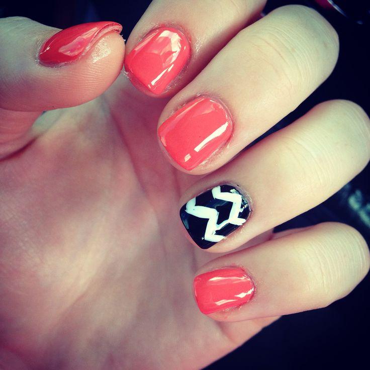 Chevron Design On Nails