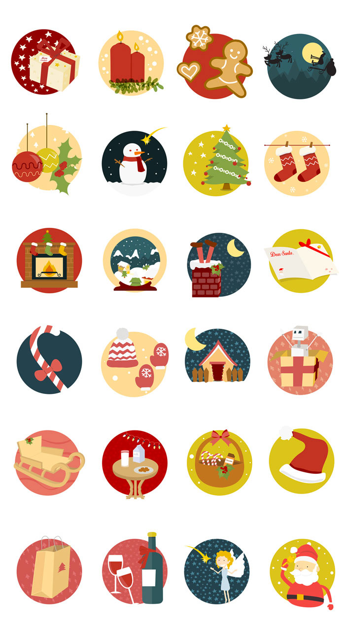 14 Holiday Icons Large Images