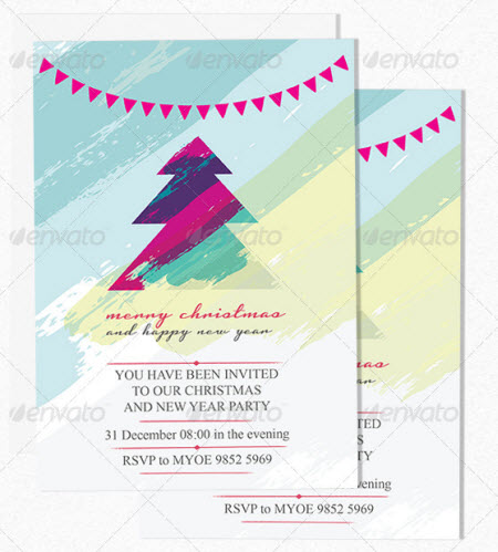 Christmas Party Invitation Flyer Templates Free